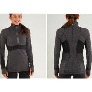 Lululemon Run Full Tilt 1/2 Zip Pullover in Gray
